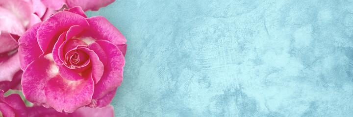 Photo sur Plexiglas Fleur Vintage Wide Angle floral template for celebratio