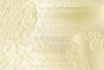 菊 和柄 年賀状 背景