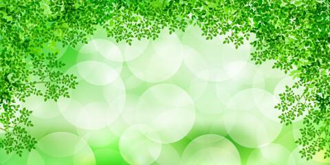 新緑 葉 水彩 背景
