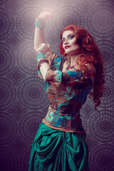 redhaired gypsy woman