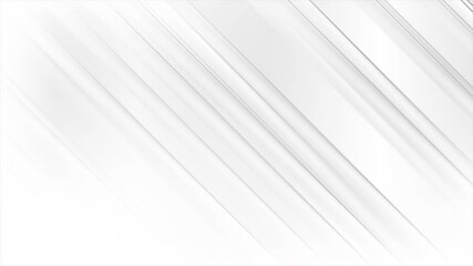 Wall Mural - White and grey smooth glossy stripes abstract geometric motion background. Seamless looping. Video animation Ultra HD 4K 3840x2160