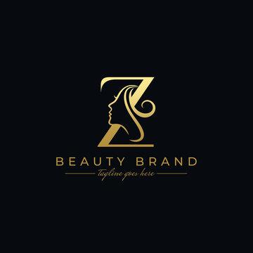Letter Z Beauty Face, Hair Salon Logo Design