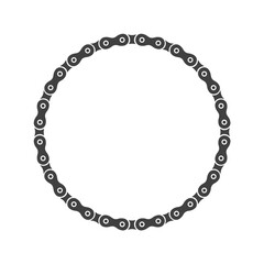 Bike Chain Frame - Round Decoration Element - Vector