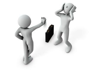 解雇通知をうけるビジネスマン