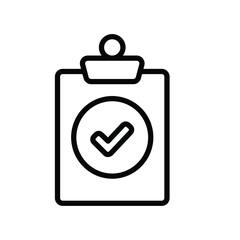 Fototapeta Patient Medical Checklist Report Medical Hospital Line Icon Illustration Creative Design Vector