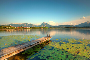 Wall Mural - Abends am See