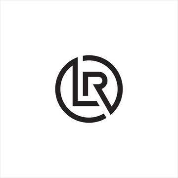 LR or RL letter logo design.