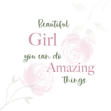 Beautiful Girl You Can Do Amazing Things Room Printable