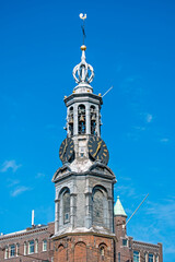 Tower from the Munt tower in Amsterdam Netherlands