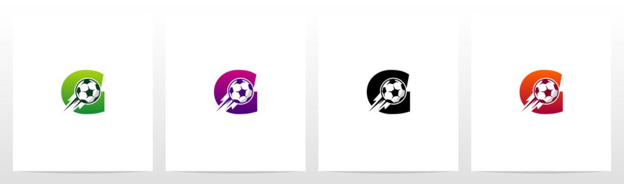Soccer Ball On Letter Logo Design G