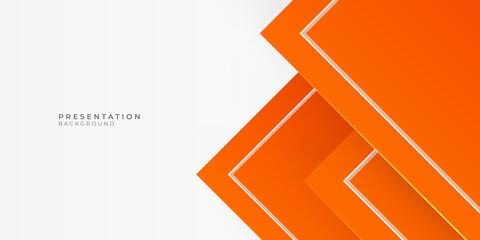 Orange gradient geometric shape background