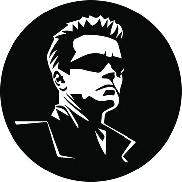 Arnold Schwarzenegger vector illustration face isolated