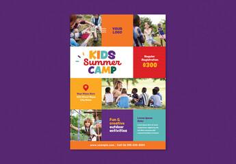Kids Summer Camp Flyer Set