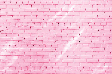 The background of the old pink brick wall for design interior
