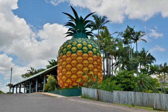 Woombye, Queensland, Australia – December 17, 2017. 16m-high Big Pineapple in Woombye, QLD.