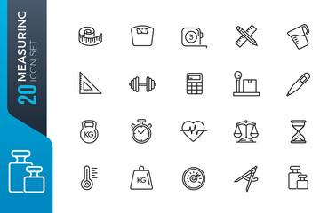 minimal measuring icon set