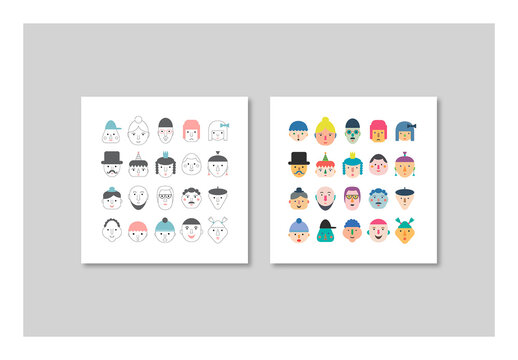 Posters with Fun Faces