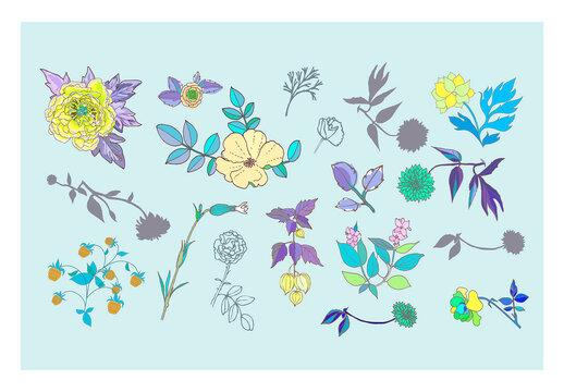 Flower Set Art Kit