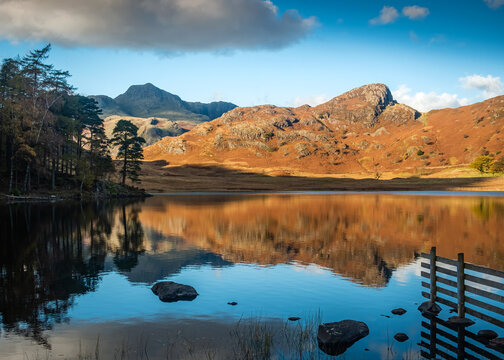 Reflections at Blea Tarn in the English Lake District.
