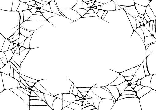 蜘蛛の巣の背景フレーム