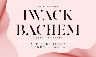 Vector illustration typeface alphabet. Classic typography font set design.