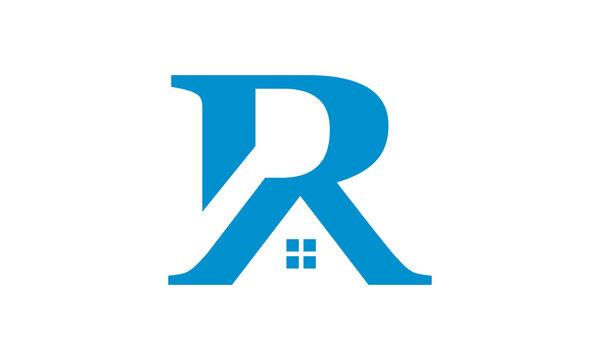 r roof vector logo symbol illustration design sign icon