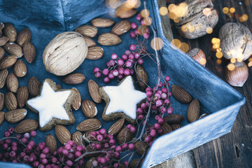 still life with nuts and dried fruits