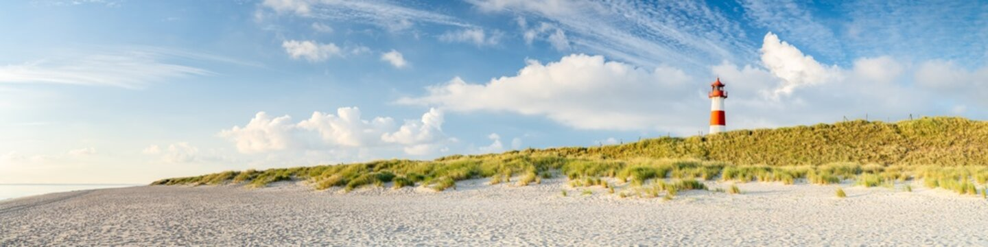 Sylt panorama with lighthouse, Schleswig-Holstein, Germany