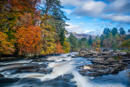 Falls of Dochart, Killin, Scotland.