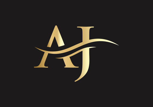 AJ Letter Linked Logo for business and company identity. Creative Letter AJ Logo Vector Template.