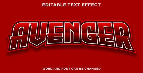 Wall Mural - Editable text effect avenger