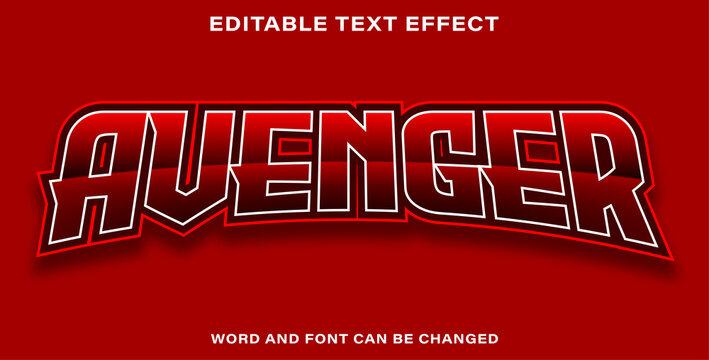 Editable text effect avenger