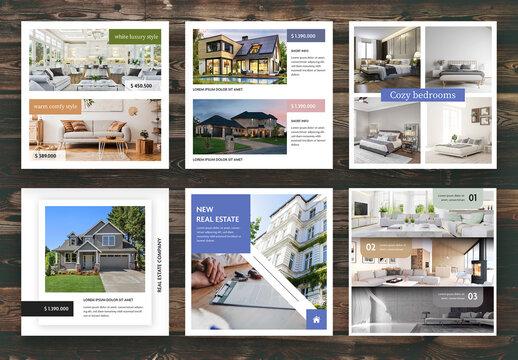 Real Estate Social Media Layouts