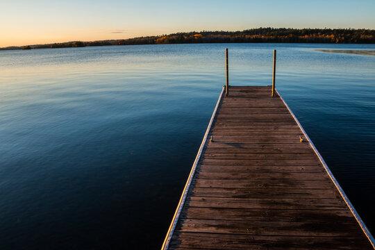 Fishing Pier Shagawa Lake, Ely, Minnesota, USA