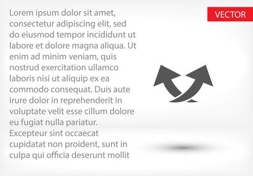 arrow icon . Vector  Eps 10 . Lorem Ipsum Flat Design