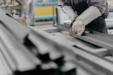 Fototapeta worker working in factory