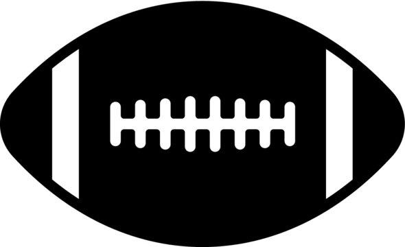 Vector illustration of the American football ball