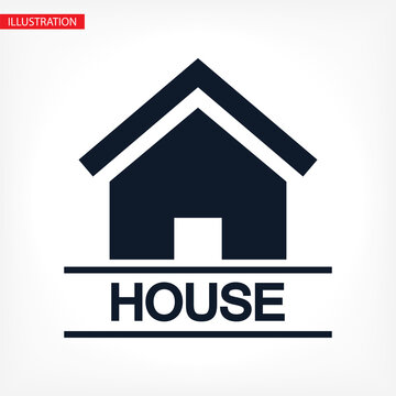 Home vector image to be used in web applications, mobile applications and print media. Abstract house logo design template. Colorful sign. Universal vector icon