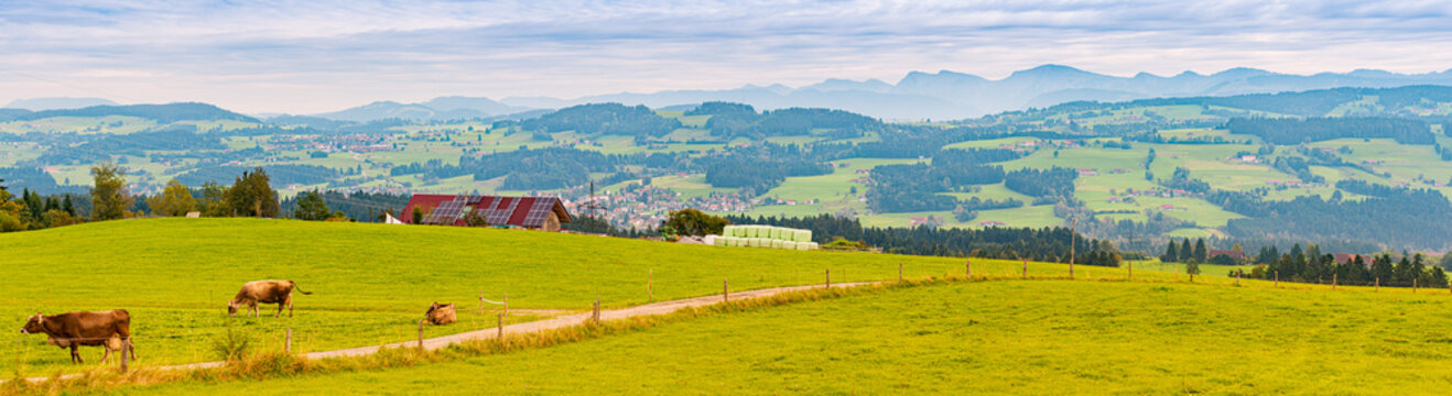 Countryside farm in Bavaria, Germany, Europe