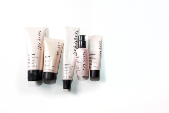 A collection of Mary Kay cosmetics