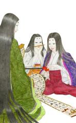 談笑する古代日本の女性たち
