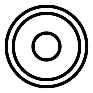 Greco-roman wrestling mat icon. Outline greco-roman wrestling mat vector icon for web design isolated on white background