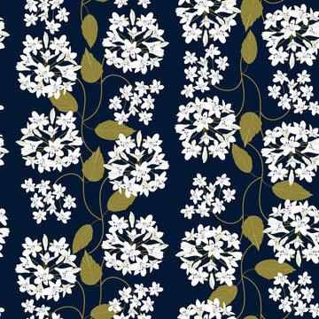 Seamless pattern. White agapanthus flower pattern