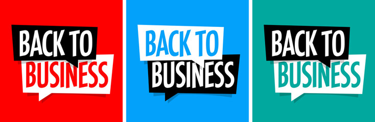 Wall Mural - Back to business