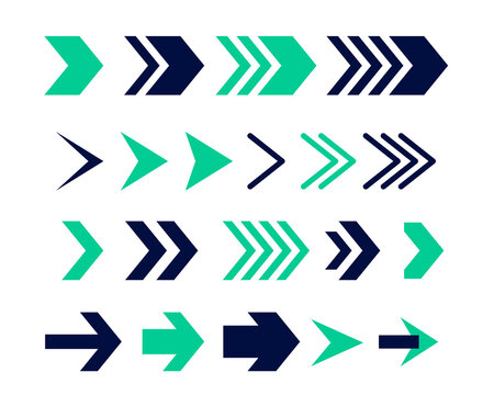 directional arrow sign or icons set design