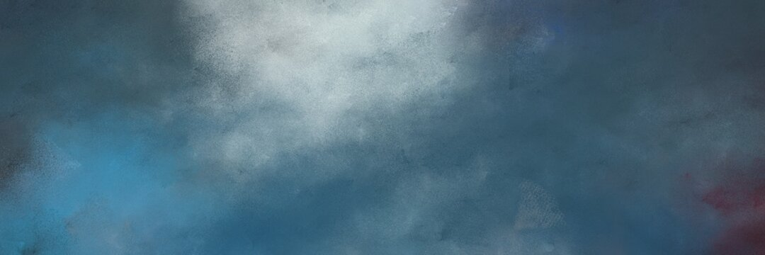 stunning abstract painting background graphic with teal blue, pastel blue and light slate gray colors and space for text or image. can be used as horizontal background texture