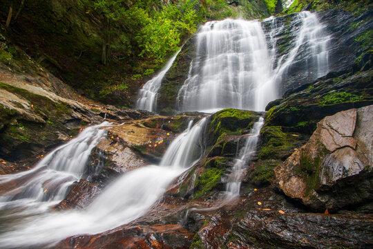 Majestic Moss Glen Falls near Stowe, Vermont USA