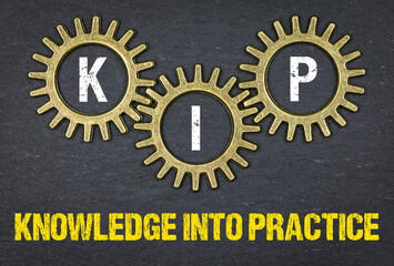 Printed kitchen splashbacks Chicken KIP Knowledge into practice
