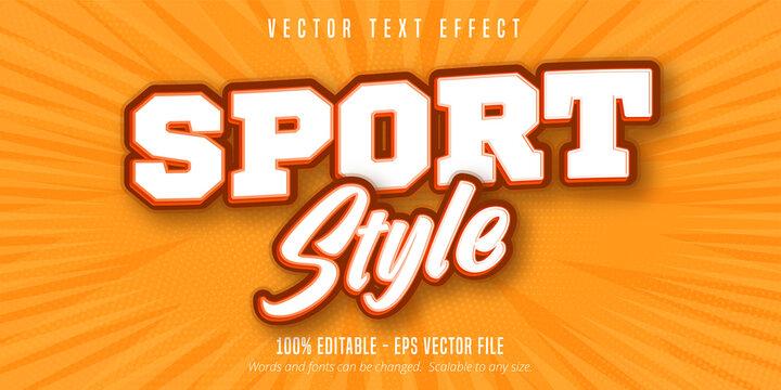 Sport style text, pop art style editable text effect