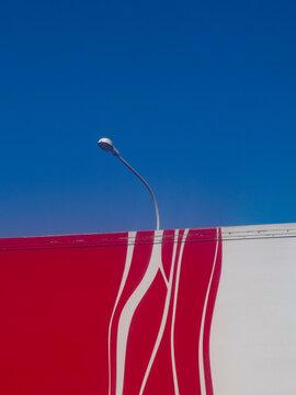 City lamppost, billboard, sky
